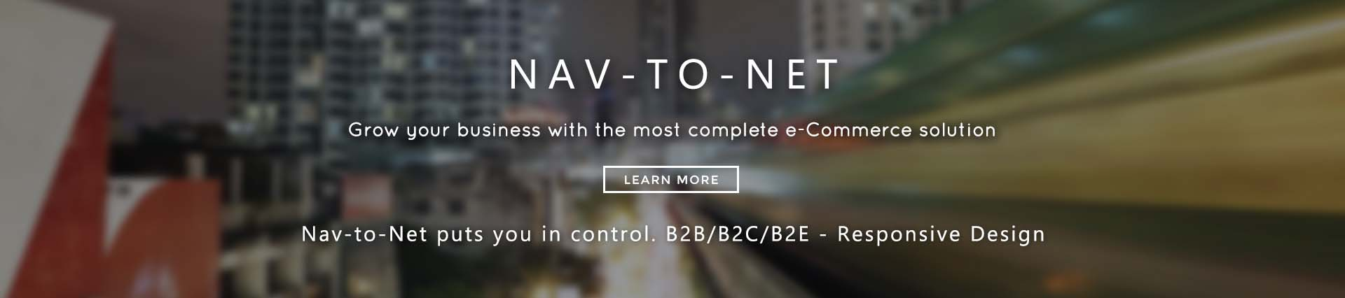 Nav-to-Net is the most comprehensive solution for NAV e-Commerce