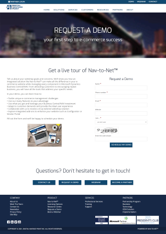 Nav-to-Net™ Submission Manager makes demo request management easy