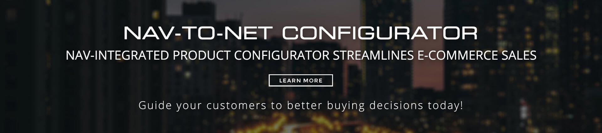 Nav-to-Net Configurator for e-Commerce