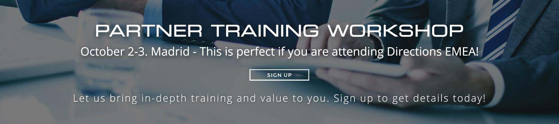 Partner Training 2017