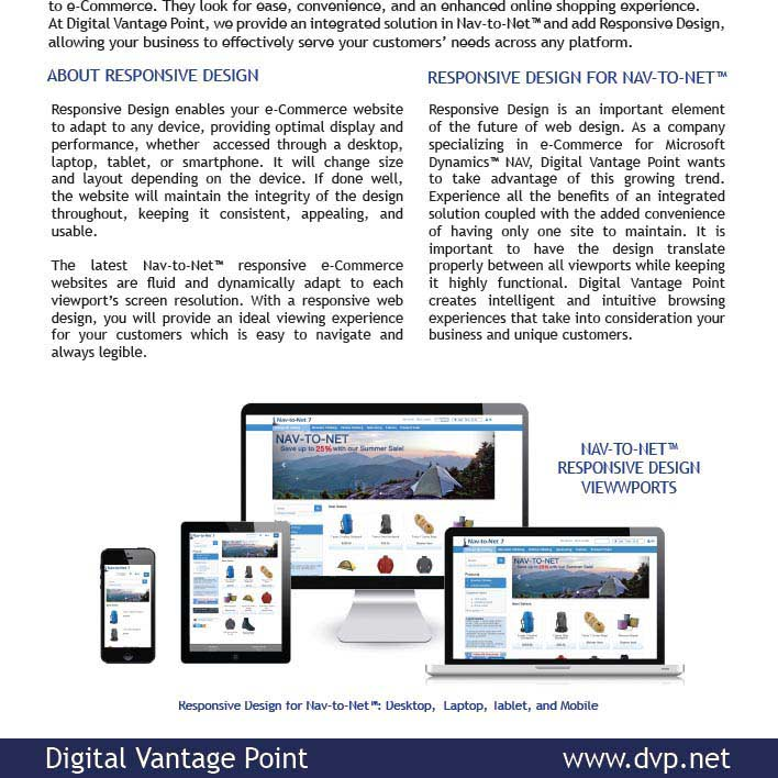 Nav-to-Net Responsive Design Brochure