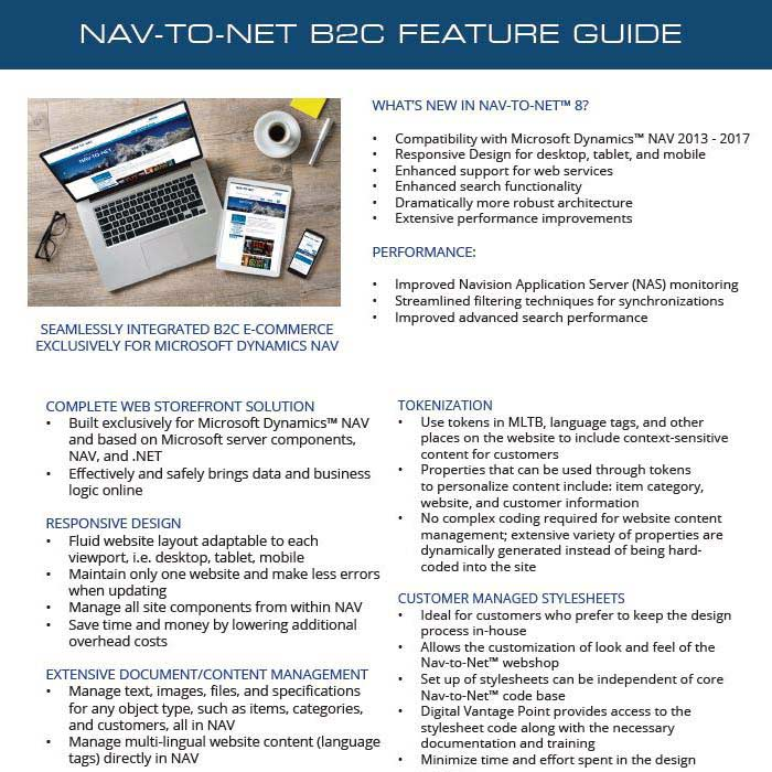 Nav-to-Net B2C e-Commerce Feature Guide