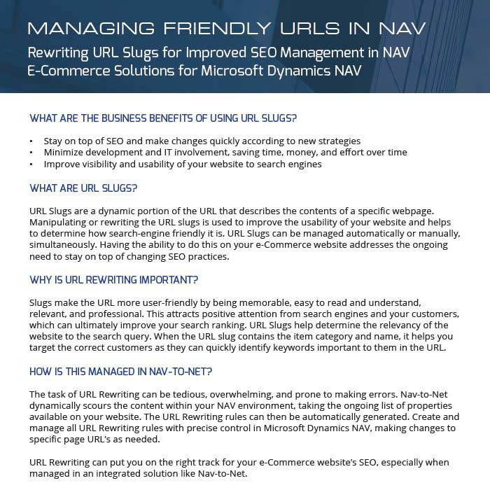 Managing Friendly URLs in Business Central / NAV