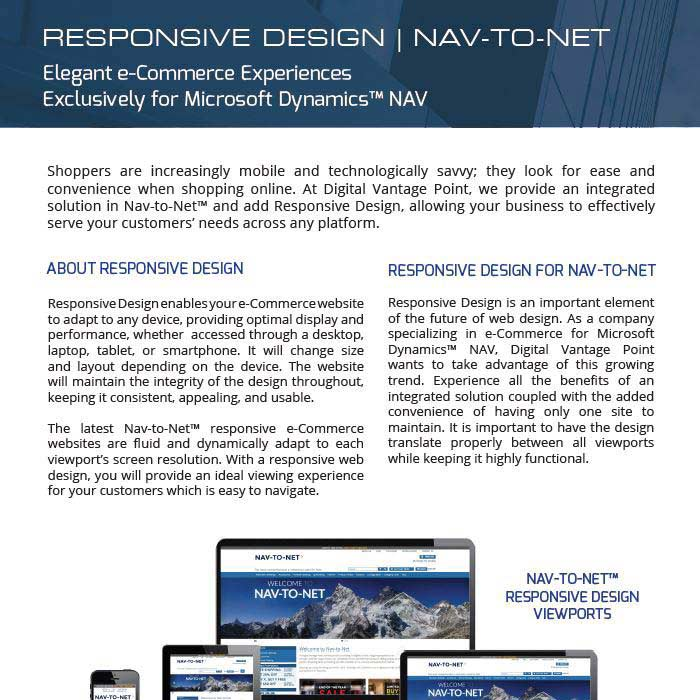 Responsive Design for Nav-to-Net e-Commerce
