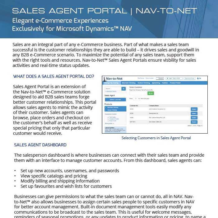 Sales Agent Portal Product Brochure