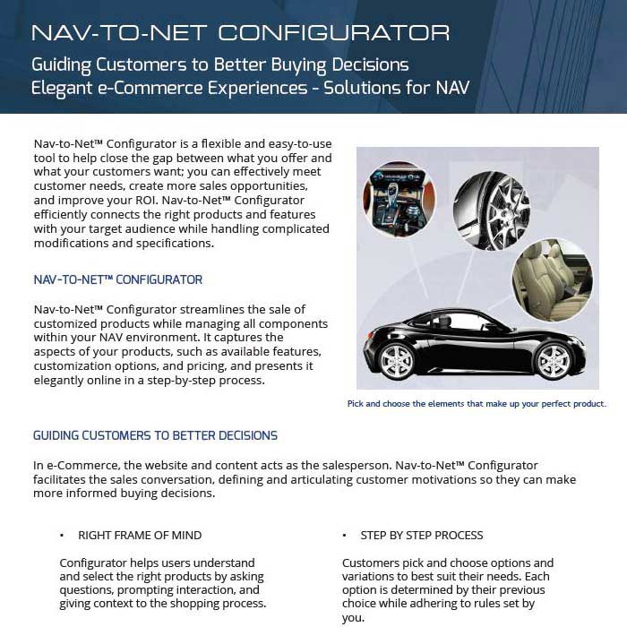 Nav-to-Net Configurator Brochure